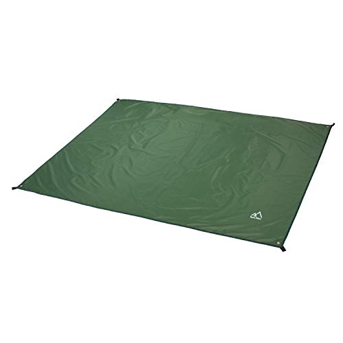 Terra Hiker Camping Tarp, Waterproof Picnic Mat, Mutifunctional Tent Footprint with Drawstring Carrying Bag for Picnic, Hiking (Dark Green 59' x 86')