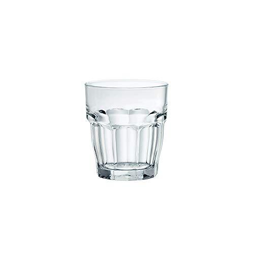 Bormioli Rocco Rock Bar Stackable Shot Glasses  Set Of 6 Dishwasher Safe Drinking Glasses For Liquors & Spirits  225oz Durable Tempered Glass