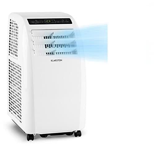 Klarstein Metrobreeze Rom Smart portátil, 3 en 1: Ventilador/humidificador/aire acondicionado, wifi: Control por app, A+ programable, mando a distancia, 10000 BTU / 3,0 kW, blanco