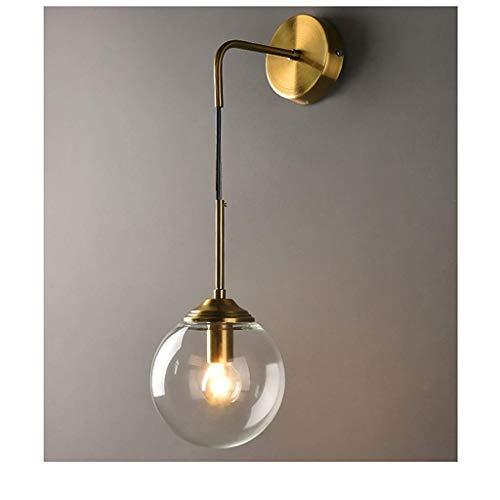 Wandlamp met kristallen wandlamp, wandlamp, wandlamp, wandlamp, buitenverlichting, LED-verlichting van koper C.