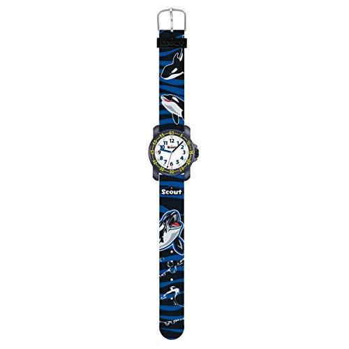 Scout Jungen Analog Quarz Uhr mit Textil Armband 376.009