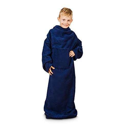 Froster - Bata manta para niños en edad escolar, suave y con mangas