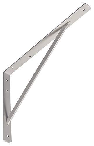 Gedotec Schwerlast-Konsole Metall Regalträger Winkel-Konsole weiß matt | 400 x 200 x 20 mm | Schwerlastträger Tragkraft 300 kg | Regalhalter Stahl massiv | 1 Stück - Regalkonsole für die Wandmontage