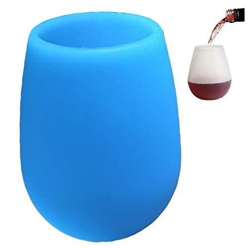 1pc Protegido De Silicona Sin Pie Copa De Vino, Gafas Portátiles Flexibles, De Cerveza Whisky por Un Partido De Picnic Barbacoa Camping, 350