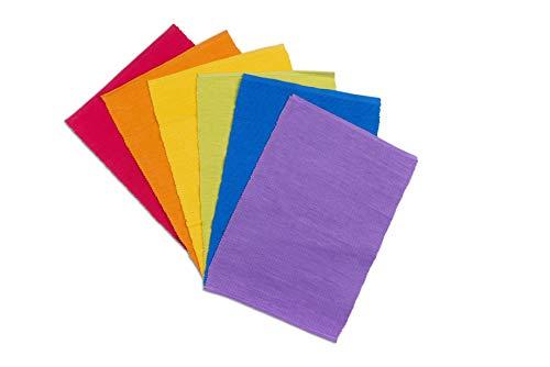 Excelsa Social Color Set 6 Tovagliette, Cotone, Multicolor, 43x30