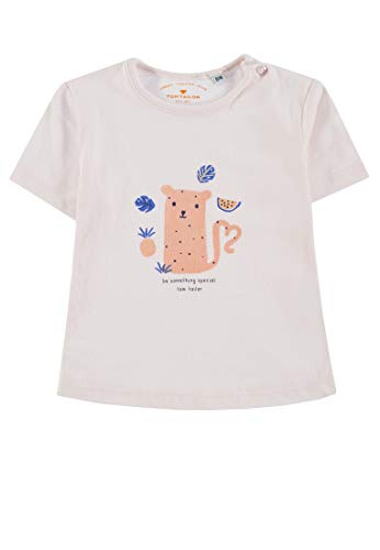 TOM TAILOR Kids T- Shirt Placed Print (Ballet Slipper|Rose 2501), 68 Bébé Fille