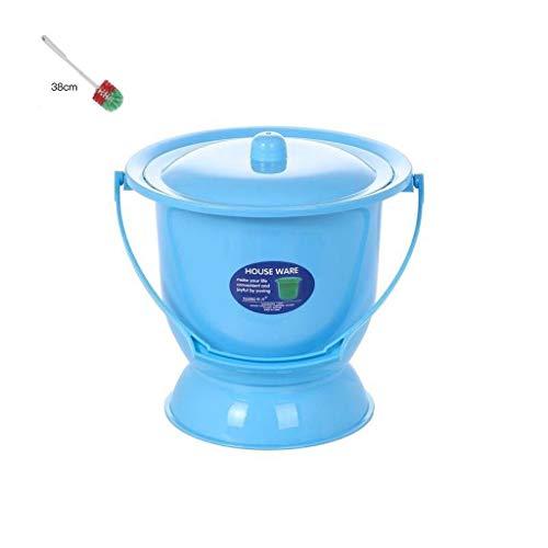 Npeiyi Männer Und Frauen Mit Deckel Urinal Erwachsene Urinal Urineimer Kunststoffe Urinal Kinder Nachttopf Schwangere Frauen Töpfchen Weibliche Urineimer Urinale (Color : Blue)