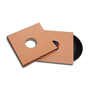 25cm/10inch Schallplatten Cover braun Karton Protected (50 Stück)