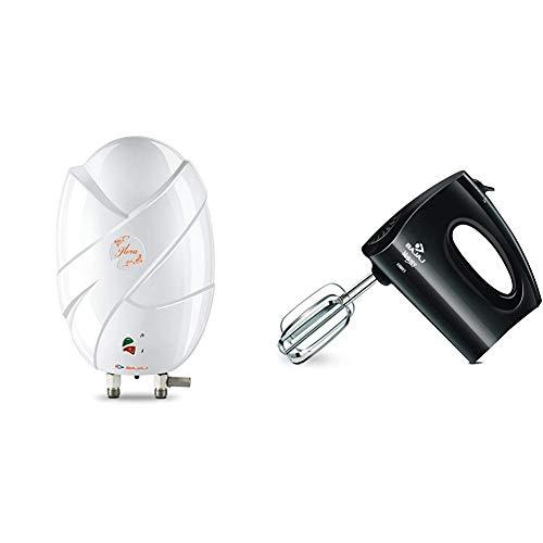 Bajaj Flora Instant 3 Ltr Vertical Water Heater, White
