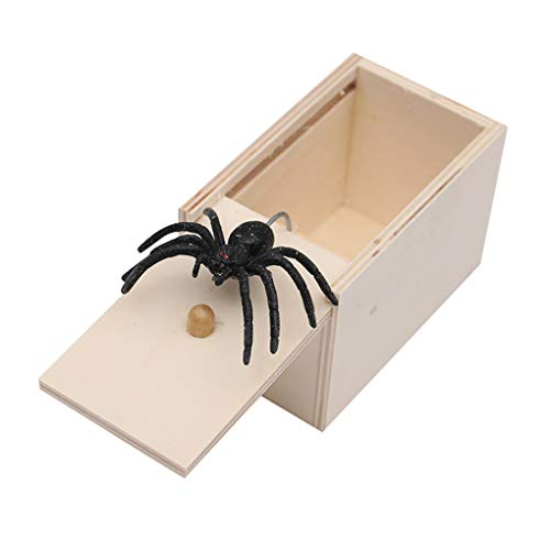 Floridivy Houten Prank Insect Scary Box Horrible Animal Case Trick Play Joke Toy Bar Party Prop Gift