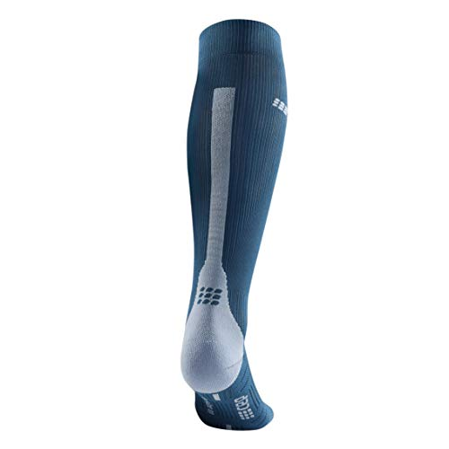 CEP – Run Socks 3.0 für Damen | Kompressionsstrumpf mit präzisem Druckverlauf in blau/grau | Größe II - 3