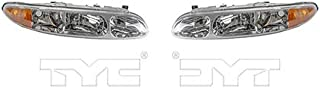 Fits 1999-2004 Oldsmobile Alero Headlight Driver and Passenger Side Bulbs Included GM2502203 GM2503203 - Replaces 22689652, 22689651 ;includes park/signal/marker lamps