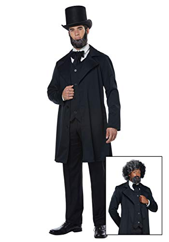 California Costumes Men's Abraham Lincoln-Frederick Douglass-Adult Costume, Black, Extra Large