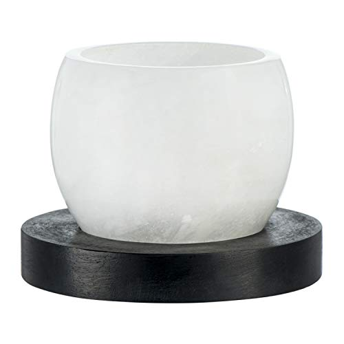 Creative Co-op Alabaster Candle, Set of 2 Votive Holder, Black