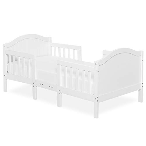 Dream On Me Portland 3 In 1 Convertible Toddler Bed in White, Greenguard Gold Certified