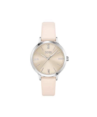 Hugo BOSS Damen Analog Quarz Uhr mit Leder Armband 1502580