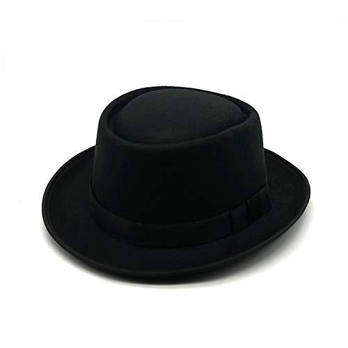 Sun Hat 2019 Winter Panama Hut Frauen Elegante Filzkappen Männer Vintage Trilby Hut Breite Krempe Fedora Caps mit Band Chapeau Homme Feutre-2-