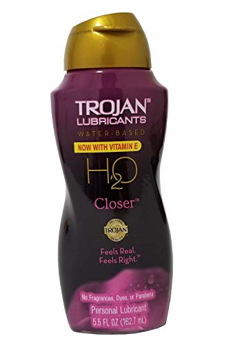 TROJAN H2O Water-Based Personal Lubricant, Closer 5.50 oz (Pack of 2)
