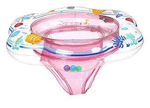 Flotadores de anillo de natación para bebés con asiento de seguridad Airbag doble natación para bebés de niños Flotadores de bebé para piscina de natación Flotadores de piscina para niños (polvo)
