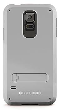 Galaxy S5 Case BUDDIBOX [Shield] Slim Dual Layer Protective Case with Kickstand for Samsung Galaxy S5  Silver