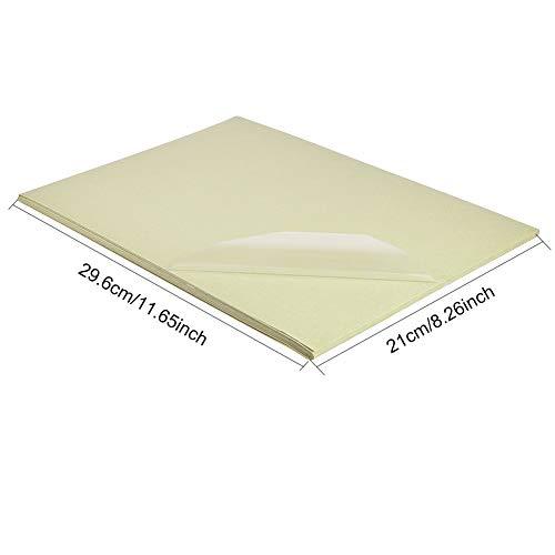 BENECREAT 30 PCS Etiqueta Adhesiva Pet Transparente en Blanco A4, Solo para Impresora de Láser, Etiqueta de Comida y Deciración 29.6x21cm