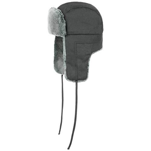Stetson Old Cotton Fliegermütze - Wasserabweisende Pilotenmütze - Chapka Herren/Damen - Mütze Herbst/Winter - Wintermütze schwarz S (54-55 cm)