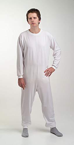 Obbocare - Pijama Antipañal De Adulto De Manga Larga. Pijama Geriátrico De 2 Cremalleras Para Facilitar Cambio De Pañal. Tejido Transpirable. Talla M