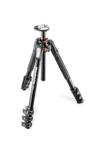 Oferta de Manfrotto MT190XPRO4 - Trípode completo de 4 secciones de aluminio, sólo patas, negro