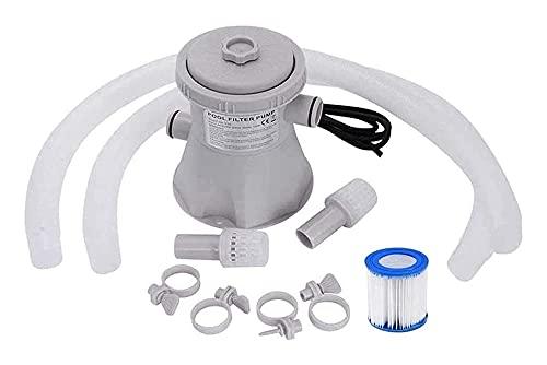 Cartouche Piscine Filtre Pompe 300 gallons Piscine électrique Pompe à filtre Piscine Nettoyage d eau Outil de nettoyage Ensemble de piscines hors sol, outil de nettoyage de la piscine (Couleur: A)