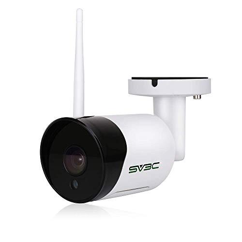 WLAN Überwachungskamera Aussen, SV3C 1080P HD Wireless IP Kamera für außen mit LAN & WLAN Verbindung, Outdoor WiFi Wasserdichter Sicherheitskamera, Zwei-Wege-Audio, 20m Nachtsicht,Bewegungserkennung