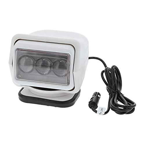 Proyector LED de control remoto,60W 6000K Luz de búsqueda halógena portátil marina de una fila/Luz de techo de camión/Lámpara de trabajo,IP67 Impermeable, para restauración de rescate Iluminació