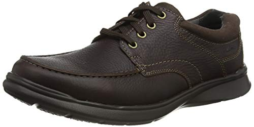 Clarks Cotrell Edge, Zapatos de Cordones Derby para Hombre, Marrón (Brown Oily), 43 EU