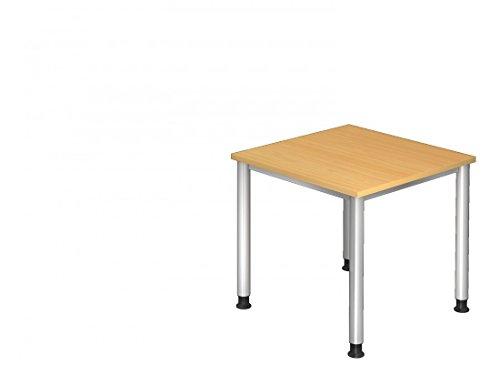 Bürotisch DR-Büro Serie H - 80 x 80 - Besprechungstisch einstellbar 68 bis 76 cm - 7 Farben -...
