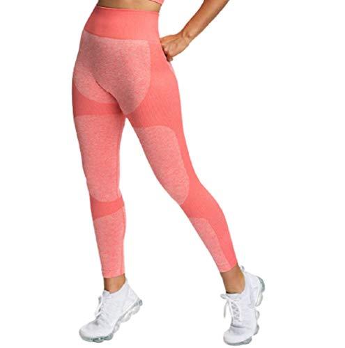 Ducomi Lia Leggings Mujer, Leggins de Cintura Alta - Ropa Deportiva para el Hogar y el Gimnasio - Pantalones de Control de Abdomen y Glúteos, Elásticos para Yoga, Pilates (Rosado, EU S)