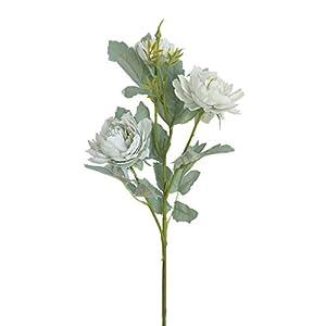 YUHYtop Artificial Flowers, Fake Peony Silk Hydrangea Bouquet Decor Plastic Carnations Realistic Flower Arrangements Wedding Decoration Table Centerpieces (Bule)
