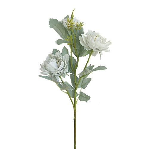 Hunpta @ 3 Köpfe Künstliche Pfingstrose Blumen Kunstblumen Blumenarrangement für Haus Büro Balkon Garten Hochzeit Party Valentinstag Dekoration