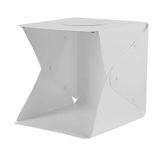 Deshunchang LED Softbox Fotografie LED-Zelt Faltbare Mini Lightbox Portable Foto Shooting Softbox mit 2 LED-Streifen und 6 Farben kulissen, 40cm