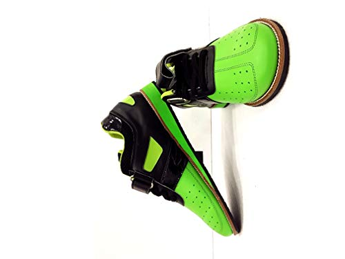 RXN Men's Green PU Weightlifting Shoes (9)