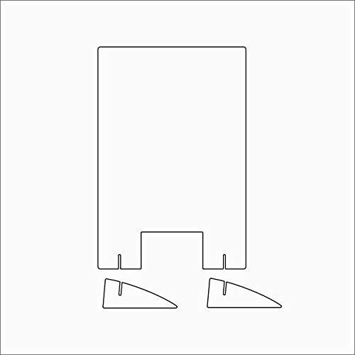 Schutzscheibe klar in verschiedenen Größen zum Aufstellen (60x90 cm)
