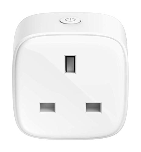 D-Link DSP-W118/B - Mini Wi-Fi Smart Plug Compatibile with Alexa and Google Home and IFTTT, Remote Control with Mydlink App, Timer and schedule Function, 13A RATED - UK Version