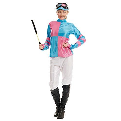 Fun Shack Blaues Jockey Kostüm für Damen, Reiter Verkleidung Erwachsene - XL