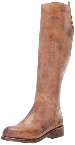 Bed Stu Women's Manchester Knee-High Boot, Tan Rustic/White, 6.5 M US