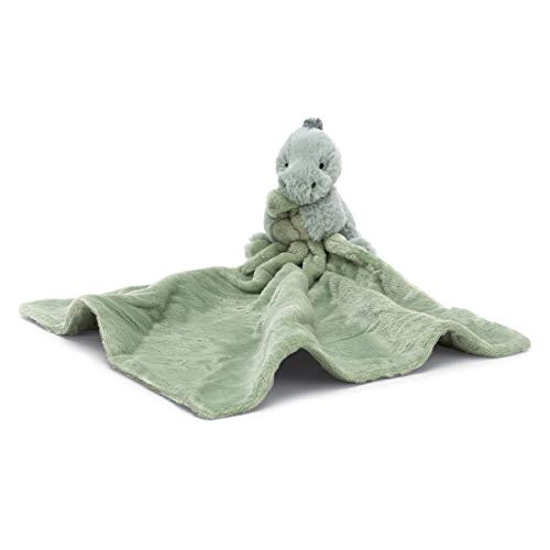 Jellycat Puffles Dinosaur Soother Baby Stuffed Animal Security Blanket