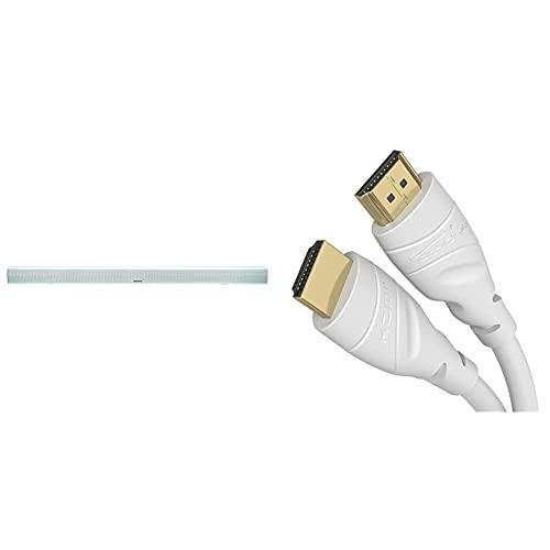 Grundig DSB 950 Soundbar, weiß & KabelDirekt – 2 m – weißes 4K HDMI-Kabel (4K@60Hz – spektakuläres Ultra-HD-Erlebnis, kompatibel mit HDMI 2.0a/2.0b/2.0/1.4a, Blu-ray/PS4/Xbox/Switch, weiß)