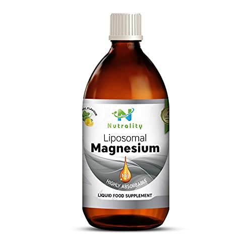 Nutrality Liposomal Magnesium Citrate Supplement for Men and Women, 250 mL, Natural Bioavailable Liquid, Supports Blood Sugar Levels and Cardiovascular Health, Non-GMO and Gluten Free