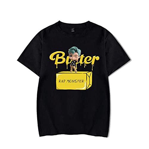 BTS T Shirt BTS Butter T-Shirt Décontracté Col Rond Rap Monster Jin Suga J-Hope Jimin V Jung Kook Shirt Tee pour Femmes Hommes Garçons Filles Fans