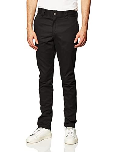 Dickies Men's Slim Skinny Fit Work Pant, Black, 30x30
