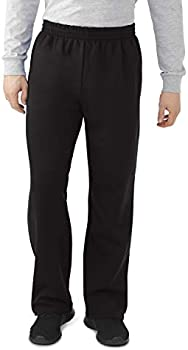 Fruit of the Loom Men's Fleece Sweatpants (various sizes) (Black)