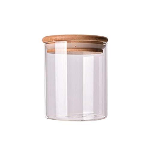 Helder glazen pot verzegeld Bus Eten opslagcontainer for losse thee Coffee Bean Suiker Zout Keuken Storage Jar Organier Fles (Color : Picture 1, Size : 250 ml)
