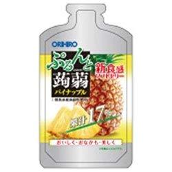 オリヒロ ぷるんと蒟蒻ゼリー パイナップル 100gパウチショット×36個入×(2ケース)